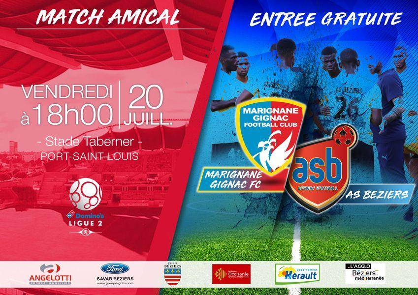 Match Amical : Marignane Gignac FC - AS Béziers