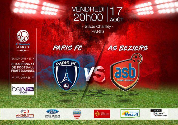 Affiche Paris FC - AS Béziers